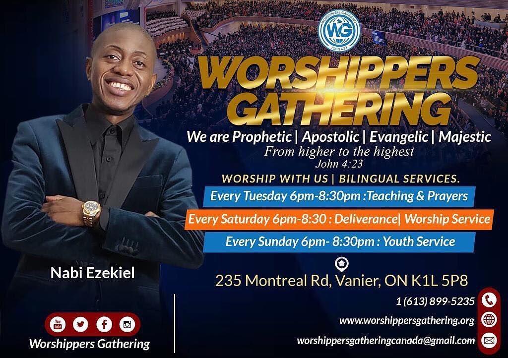 Worshippers Gathering